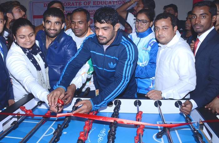 Sh. Sushil Kumar Olympic Medal Winner during the opening ceremony